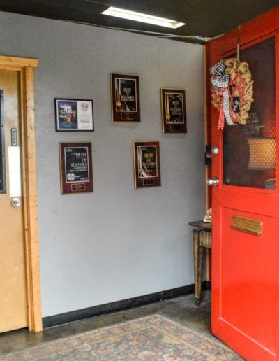 City Dogs Foyer and Award Wall