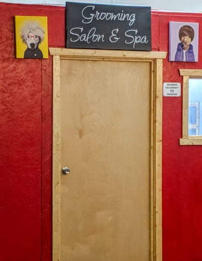 Door to our Salon & Spa